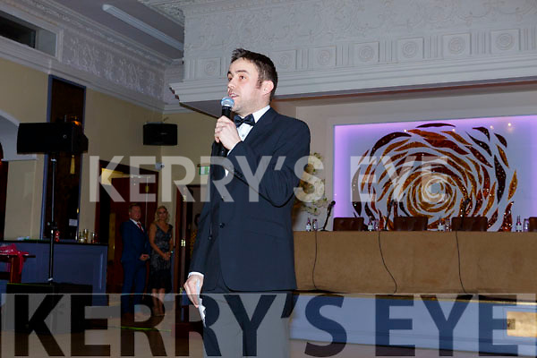 Mc Andrew Morrissey at the Ballymac Strictly Love dancing in the Ballygarry House Hotel on Saturday.