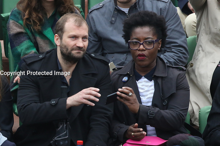 Claudia Tagbo watching tennis during Roland Garros tennis open 2016 in Paris on June 01 2016.