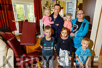 Mindausas Knyza with his family at his home In Sneem which was damaged by flooding.<br /> Front: Tomas, Karolis and Goda.<br /> Back: Mindausas, twins Gabija and Emilija and Goda and his partner Sandra Traskovskaja.