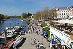 Great Britain, England, Greater London, Richmond: The Thames Riverfront north of Richmond Bridge | Grossbritannien, England, Greater London, Richmond: am Flussufer der Themse noerdlich der Richmond Bridge