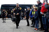 Photo: Richard Lane/Richard Lane Photography. Sale Sharks v Wasps. Aviva Premiership. 19/02/2017. Wasps' Willie Le Roux arrives with his team mates before kick off.
