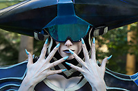 Lissandra of League of Legends cosplay by Britthebadger, Pax Prime 2015, Seattle, Washington State, WA, America, USA.