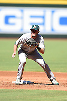 Oakland Athletics shortstop Branden Cogswell (7) during practice before an Instructional League game against the Arizona Diamondbacks on October 10, 2014 at Chase Field in Phoenix, Arizona.  (Mike Janes/Four Seam Images)
