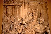 Greek Art:  Fragment, Roman Monumental Relief--Preparation of a Sacrifice. 1st Century A.D.  Louvre.