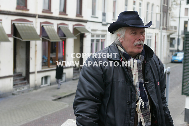 "arnhem 231105 ""keizer van het spijkerkwartier Rudy Kousbroek.<br /> <br /> foto frans ypma APA-foto"