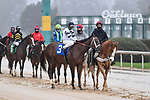 February 27, 2021: #3, Last Samurai in the post parade for the Southwest Stakes (Grade 3) at Oaklawn Park in Hot Springs, Arkansas. Ted McClenning/Eclipse Sportswire/CSM