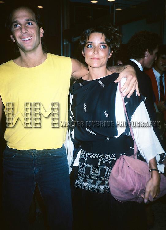 Karen Allen pictured with her boyfriend in New York City on September 1,1984.