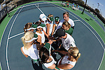 In a tightly contested match, the Tulane Women's Tennis Team falls 4-3 to Purdue at the Tulane Goldring Tennis Center.