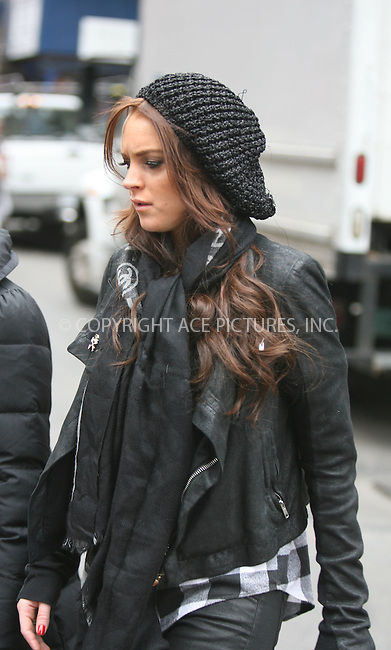 WWW.ACEPIXS.COM ** ** ** ....March 7 2008, New York City....Actress Lindsay Lohan, some friends and her DJ pal Samantha Ronson (not pictured) were out eating and shopping in Soho.......Please byline: Philip Vaughan -- ACEPIXS.COM.. *** ***  ..Ace Pictures, Inc:  ..tel: (646) 769 0430..e-mail: info@acepixs.com..web: http://www.acepixs.com
