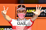 Diego Ulissi (ITA) UAE Team Emirates wins Stage 2 of the 103rd edition of the Giro d'Italia 2020 running 149km from Alcamo to Agrigento, Sicily, Italy. 4th October 2020.  <br /> Picture: LaPresse/Gian Mattia D'Alberto | Cyclefile<br /> <br /> All photos usage must carry mandatory copyright credit (© Cyclefile | LaPresse/Gian Mattia D'Alberto)