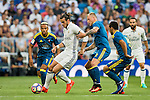 Gareth Bale of Real Madrid in action during their La Liga match at the Santiago Bernabeu Stadium between Real Madrid and RC Celta de Vigo on 27 August 2016 in Madrid, Spain. Photo by Diego Gonzalez Souto / Power Sport Images