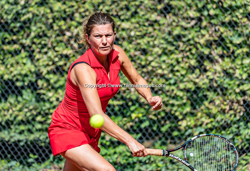 Hilversum, The Netherlands, September 2, 2018,  Tulip Tennis Center, NKS, National Championships Seniors, Women's 50+ final: Sandy Wenderhold (NED) <br /> Photo: Tennisimages/Henk Koster