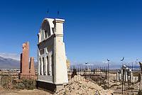 Friwdhof im Shu-Tal, Kirgistan, Asien<br /> cemetery in the Shu Valley, Kirgistan, Asia