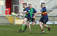 Saturday 13th April 2019 | Ballynahinch 4 vs Banbridge 3<br /> <br /> Michael Carson during the Crawford Cup final between Ballynahinch and Banbridge at Kingspan Stadium, Ravenhill Park, Belfast, Northern Ireland.  Photo by John Dickson / DICKSONDIGITAL