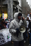 "Mark Clements, a victim of police torture who confessed to a crime he did not commit when he was 16 and was wrongly incarcerated for it for 28 years, speaks about his experiences with the Chicago Police and the effect it has had on his life during protests on Michigan Avenue, Chicago's ""Magnificent Mile"" and longest shopping street, to protest three days after the release of a dash cam video documenting the killing of Laquan McDonald by Chicago Police Officer Jason Van Dyke, who has been charged with his murder, on Black Friday, the busiest shopping day of the year, in Chicago, Illinois on November 27, 2015.  Van Dyke fired 16 shots at McDonald and fired 13 of those shots after McDonald was on the ground and only stopped after his colleague told him to stand down; a journalist for outlet DNA Info sued the City of Chicago for release of the dash cam video, which the city released only after ordered to do so by a judge last week."