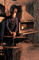 Europe/France/Auverne/63/Puy-de-Dôme/Parc Naturel Régional du Livradois-Forez/Thiers : Le musée des couteliers - Le forgeron  // France, Puy de Dome, Thiers, the Cutlery Museum ,the blacksmith