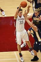 4 February 2007: Stanford Cardinal Jillian Harmon during Stanford's 72-57 loss against the California Golden Bears at Maples Pavilion in Stanford, CA.