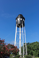 Cape Charles water tower built to look like old Cape Charles Lighthouse, Virginia, USA