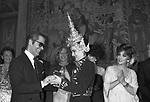 KARL LAGERFELD CON PALOMA PICASSO E GINA LOLLOBRIGIDA - PREMIO THE BEST A PALAZZO PECCI BLUNT ROMA 1978