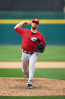 Columbus Clippers pitcher Trey Haley (36) delivers a pitch during a game against the Buffalo Bisons on July 19, 2015 at Coca-Cola Field in Buffalo, New York.  Buffalo defeated Columbus 4-3 in twelve innings.  (Mike Janes/Four Seam Images)