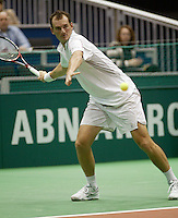 20-2-06, Netherlands, tennis, Rotterdam, ABNAMROWTT,  Moodie in action against Simon