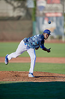 Ogden Raptors starting pitcher Jeronimo Castro (52) delivers a pitch to the plate against the Rocky Mountain Vibes at Lindquist Field on July 19, 2019 in Ogden, Utah. The Raptors defeated the Vibes 9-5. (Stephen Smith/Four Seam Images)