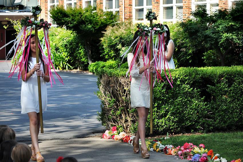 May Crowning, Holy Spirit School, Sacramento, CA, Friday, May 2, 2014. (photo by Pico van Houtryve)