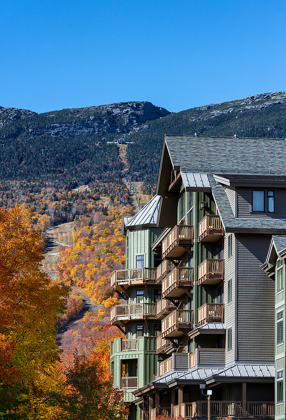 Spruce Peak Resort at the base of Stowe Ski Resort.