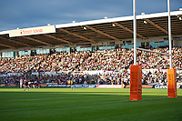 20130802 Copyright onEdition 2013 ©<br />Free for editorial use image, please credit: onEdition.<br /><br />Crowds enjoying the summer evening sun during the J.P. Morgan Asset Management Premiership Rugby 7s Series.<br /><br />The J.P. Morgan Asset Management Premiership Rugby 7s Series kicks off for the fourth season on Thursday 1st August with Pool A at Kingsholm, Gloucester with Pool B being played at Franklin's Gardens, Northampton on Friday 2nd August, Pool C at Allianz Park, Saracens home ground, on Saturday 3rd August and the Final being played at The Recreation Ground, Bath on Friday 9th August. The innovative tournament, which involves all 12 Premiership Rugby clubs, offers a fantastic platform for some of the country's finest young athletes to be exposed to the excitement, pressures and skills required to compete at an elite level.<br /><br />The 12 Premiership Rugby clubs are divided into three groups for the tournament, with the winner and runner up of each regional event going through to the Final. There are six games each evening, with each match consisting of two 7 minute halves with a 2 minute break at half time.<br /><br />For additional images please go to: http://www.w-w-i.com/jp_morgan_premiership_sevens/<br /><br />For press contacts contact: Beth Begg at brandRapport on D: +44 (0)20 7932 5813 M: +44 (0)7900 88231 E: BBegg@brand-rapport.com<br /><br />If you require a higher resolution image or you have any other onEdition photographic enquiries, please contact onEdition on 0845 900 2 900 or email info@onEdition.com<br />This image is copyright the onEdition 2013©.<br /><br />This image has been supplied by onEdition and must be credited onEdition. The author is asserting his full Moral rights in relation to the publication of this image. Rights for onward transmission of any image or file is not granted or implied. Changing or deleting Copyright information is illegal as specified in the Copyright, Design and Patents Act 1988. If you are in any
