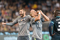 Melbourne, 24 July 2015 - Pepe of Real Madrid celebrates his goal in game three of the International Champions Cup match between Manchester City and Real Madrid at the Melbourne Cricket Ground, Australia. Real Madrid def City 4-1. (Photo Sydney Low / AsteriskImages.com)