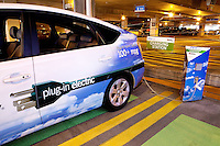 Duke Energy had five plug-in hybrid electric vehicles (PhEV) and plug-in electric vehicle (PEV) charging stations in 2010 as the company studied the technology and impact of PEVs on the electric grid. PEVs use electricity stored in a battery to move the wheels. The vehicles being tested by Duke achieve 100 mpg and more.