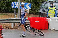 29th August 2020, Nice, France;  ALAPHILIPPE Julian (FRA) of DECEUNINCK - QUICK - STEP off his bike during stage 1 of the 107th edition of the 2020 Tour de France cycling race, a stage of 156 kms with start in Nice Moyen Pays and finish in Nice