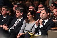 Vincent Peillon, Arnaud Montebourg, Valerie Donzelli, Benoit Hamon, investiture de BenoÓt Hamon a la presidentielle du Parti Socialiste (PS) a la mutualitÈ de Paris, le dimanche 5 fÈvrier 2017