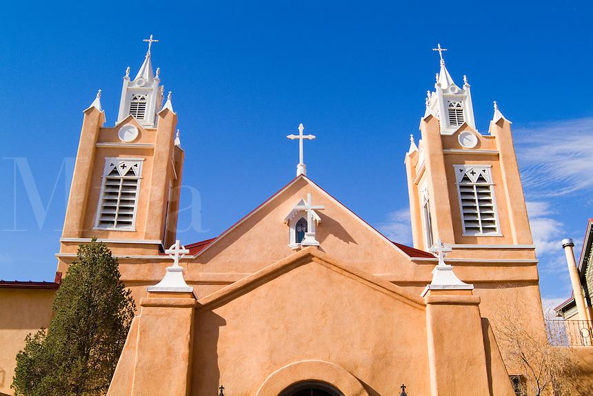 Famous Landmark of Old Town the San Felipe De Neri old Church in Albuquerque New Mexico US