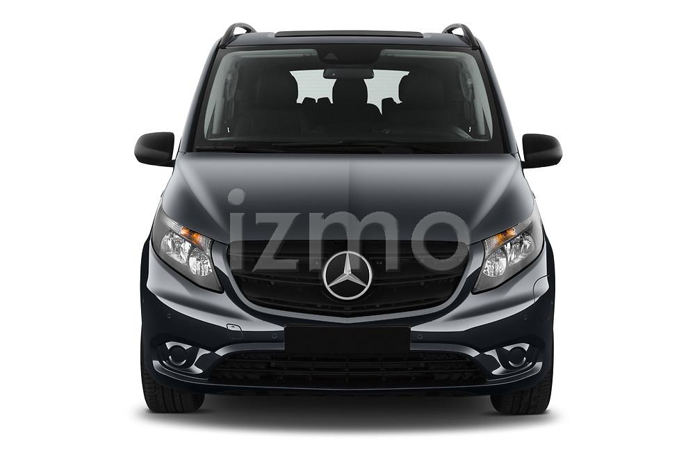 Car photography straight front view of a 2021 Mercedes Benz Vito-Tourer - 5 Door Passenger Van Front View