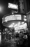 Montreal (qc) CANADA - file Photo - 1991 - <br /> <br /> <br /> Festival Juste Pour Rire 1991 - movie goers line up outside the Rialto Theatre on Park avenue (avenue du Parc)