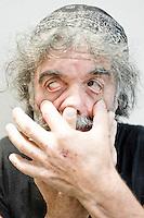 Mauro Corona, scrittore ed artista..Salone Internazionale del Libro di Torino 2012 ..Torino, 12/05/2012..© Giorgio Perottino / Insidefoto
