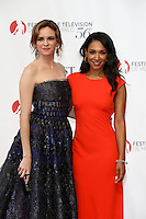 56th Monte-Carlo Television Festival opening red carpet. Danielle Panabaker and Candice Patton.