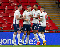 8th Occtober 2020, Wembley Stadium, London, England;  Englands Conor Coady celebrates with teammates after scoring during a friendly match between England and Wales in London