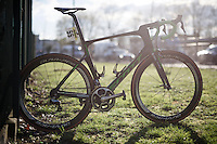 The (dusty) winning bike of the 114th Paris-Roubaix 2016: The Scott Foil as ridden by Mathew Hayman (AUS/Orica-GreenEDGE) in the Roubaix velodrome