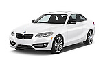 2015 BMW 2 Series 228I Sport 2 Door Coupe 2WD Angular Front stock photos of front three quarter view