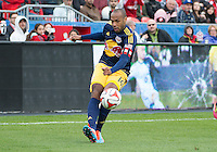 Toronto, Ontario - May 17, 2014: New York Red Bulls forward Thierry Henry #14 in action during a game between the New York Red Bulls and Toronto FC at BMO Field. Toronto FC won 2-0.