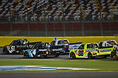 NASCAR Camping World Truck Series<br /> North Carolina Education Lottery 200<br /> Charlotte Motor Speedway, Concord, NC USA<br /> Friday 19 May 2017<br /> Kyle Busch, Cessna Toyota Tundra and Christopher Bell, SiriusXM Toyota Tundra<br /> World Copyright: Nigel Kinrade<br /> LAT Images<br /> ref: Digital Image 17CLT1nk05207