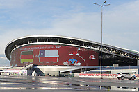 23rd June 2017: Kazan, Russia;  View of the Kazan stadium the day before the match between Mexico and Russia for the third round of the 2017 Confederations Cup. The stadium will also hold World Cup football final matches in 2018