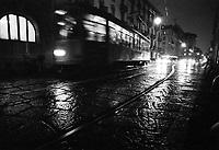 Milano, tram di sera --- Milan, tram in the evening