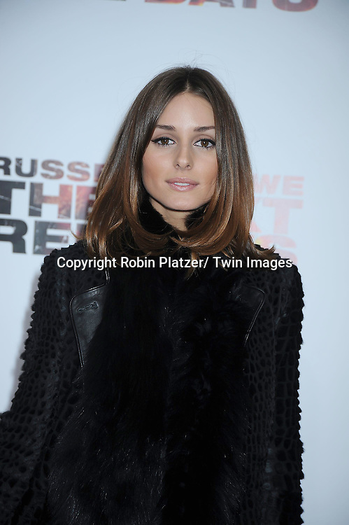 """Olivia Palermo attending the New York Special Screening of """"The Next Three Days"""" on November 9, 2010 at the Ziegfeld Theatre. The movie stars Russell Crowe, Elizabeth Banks and Olivia Wilde."""