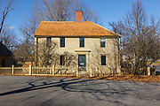 Emerson-Wilcox House in York Village in York, Maine during the autumn months. The Emerson-Wilcox House was built in the 1700s.