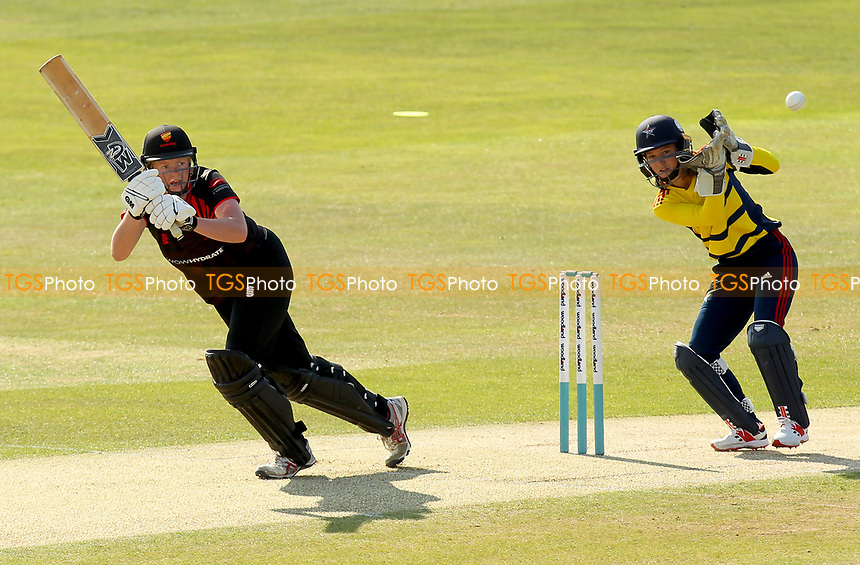 Alice MacLeod of Sunrisers hits out during Sunrisers vs South East Stars, Rachael Heyhoe Flint Trophy Cricket at The Cloudfm County Ground on 13th September 2020