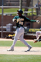 Yusuf Carter - Oakland Athletics - 2009 spring training.Photo by:  Bill Mitchell/Four Seam Images