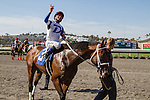 JUL 30,2014:Dallas Skyline,ridden by Kent Desormeaux,wins the maiden race,6R at Del Mar in Del Mar,CA. Kazushi Ishida/ESW/CSM